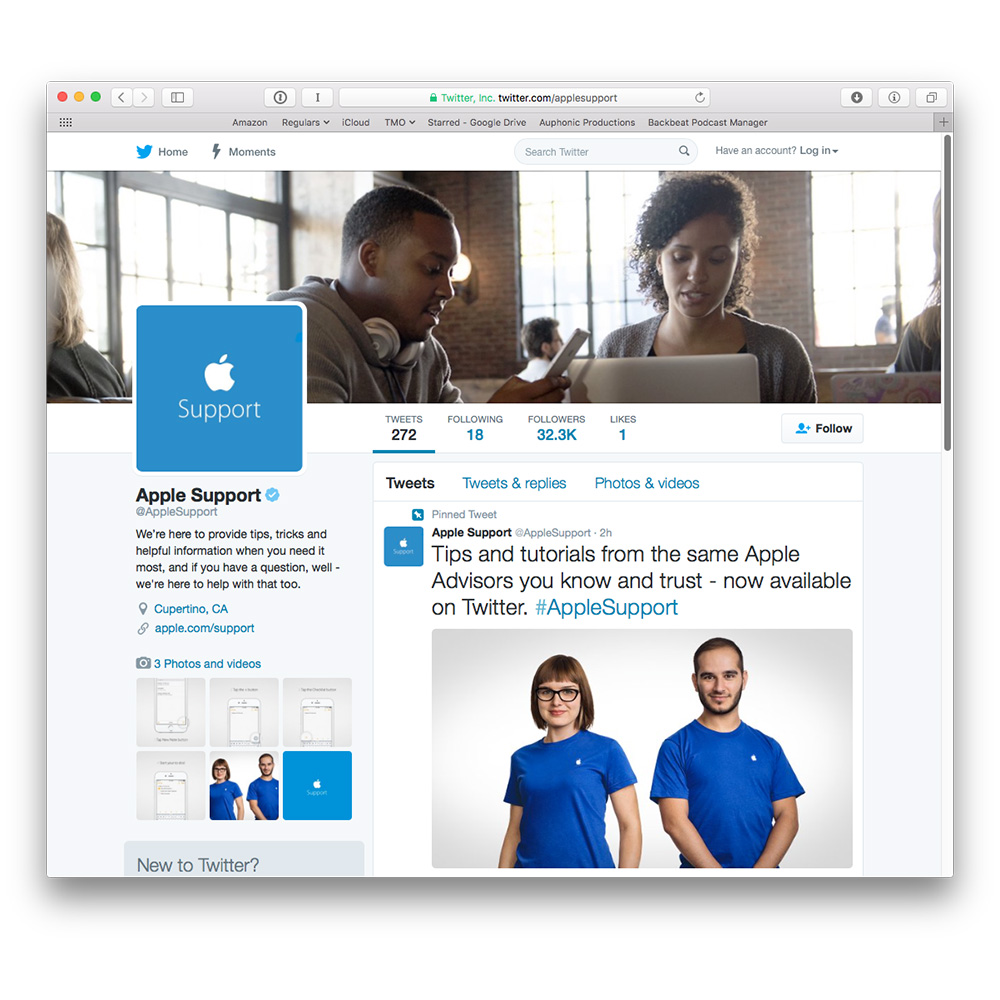 Apple Brings Product Support to Twitter