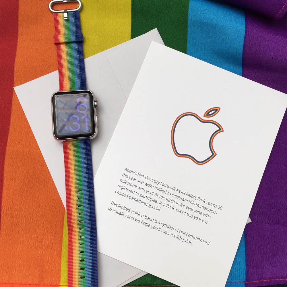 Apple's limited edition rainbow Apple Watch band