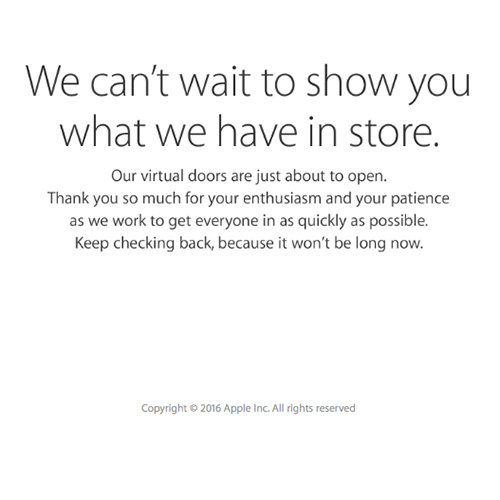 Apple's online store closed ahead of media event