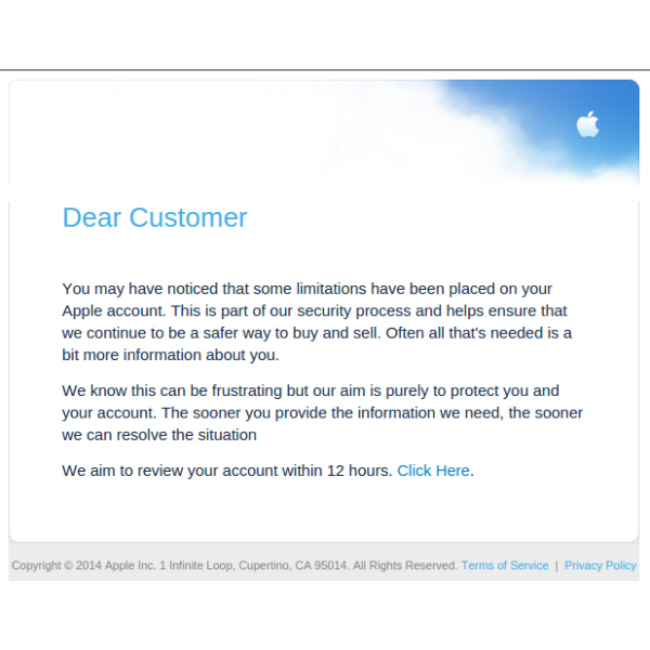 The latest phishing scam trying to steal your Apple ID and credit card