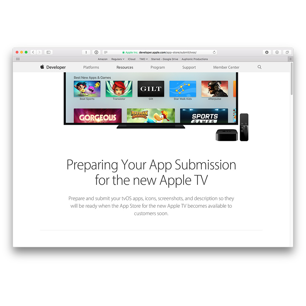Apple calls for Apple TV app submissions