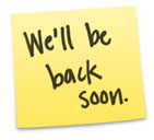 "Apple's ""Back Soon"" sign"