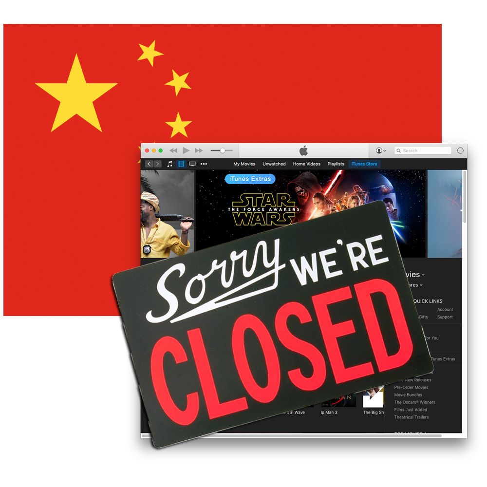 No movies for you: China shuts down Apple's iTunes movies and iBooks stores