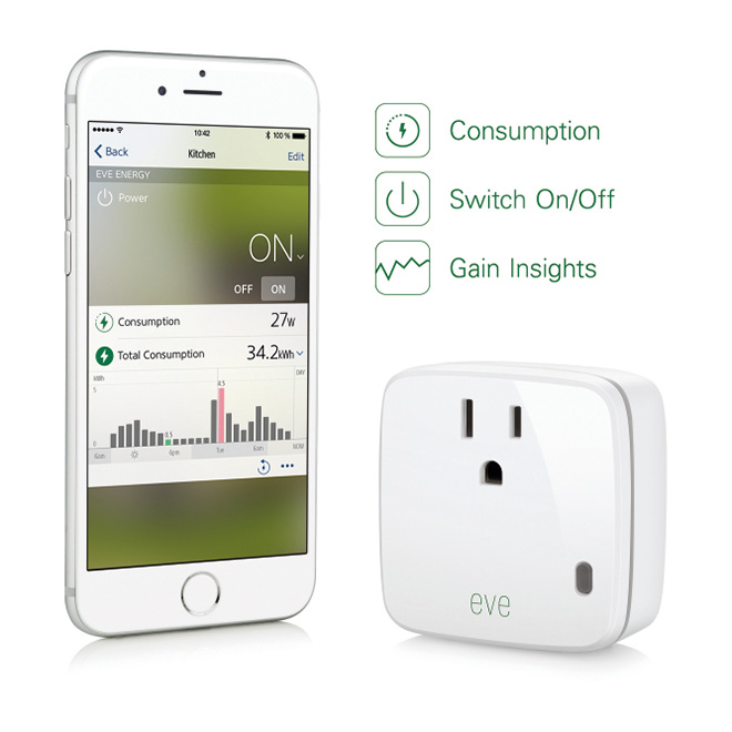 Elgato's HomeKit-ready Eve Energy smart outlet
