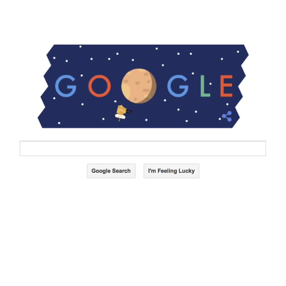 Google Doodle Gives NASA's New Horizons Pluto Probe a Hat Tip