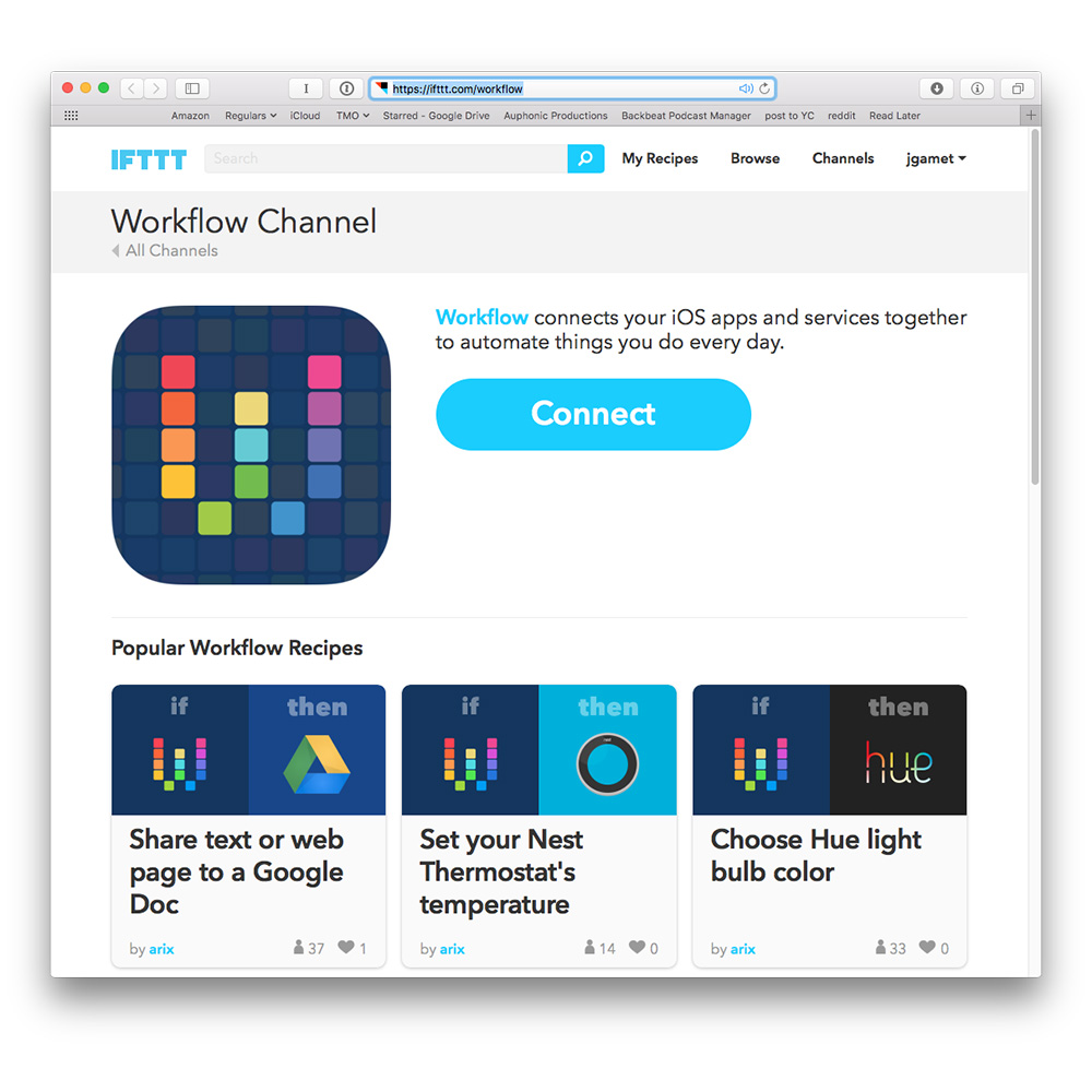 Workflow Comes to IFTTT