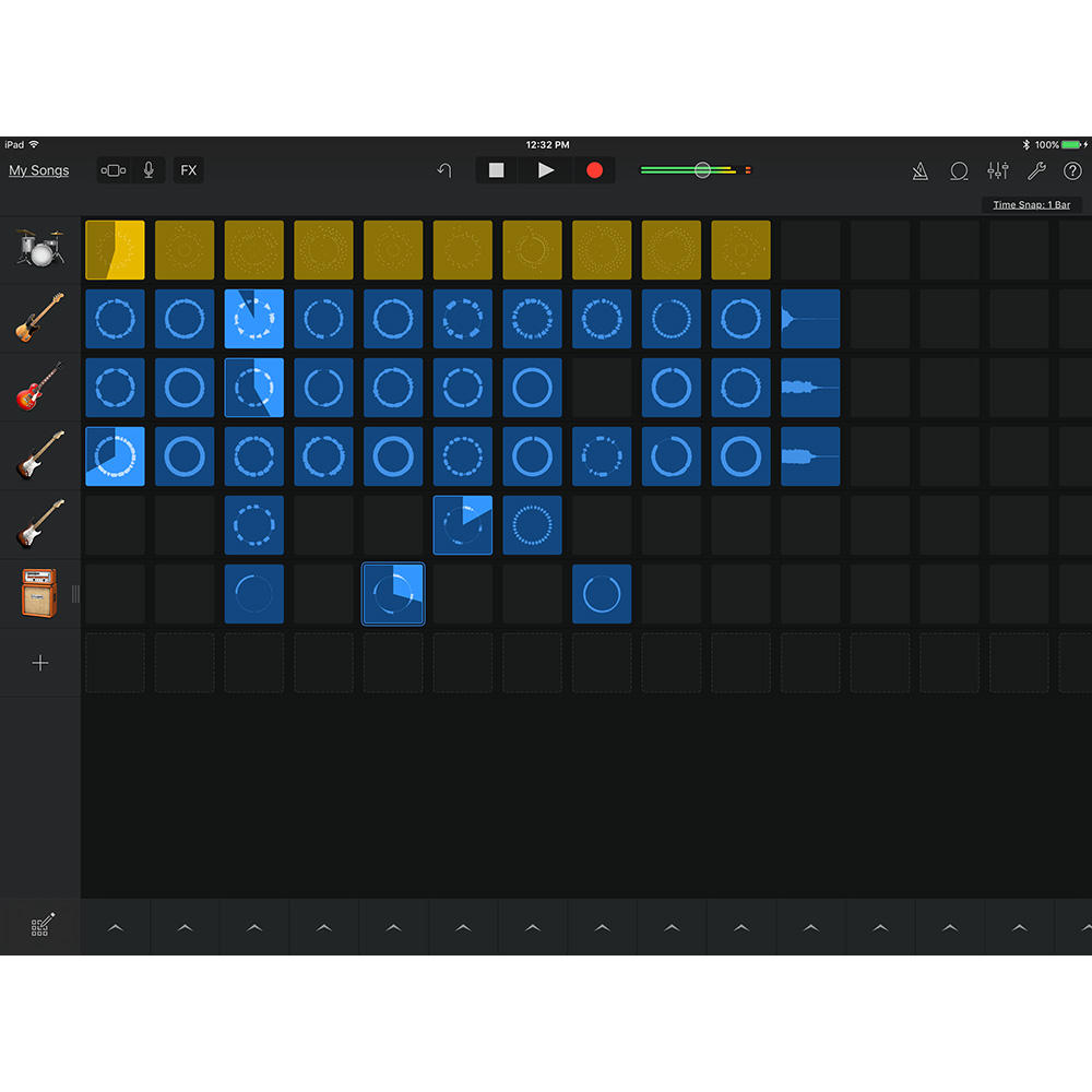 GarageBand's new Live Loops on iPad Pro