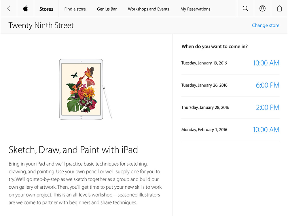 Apple Launches In-store iPad Art Workshops