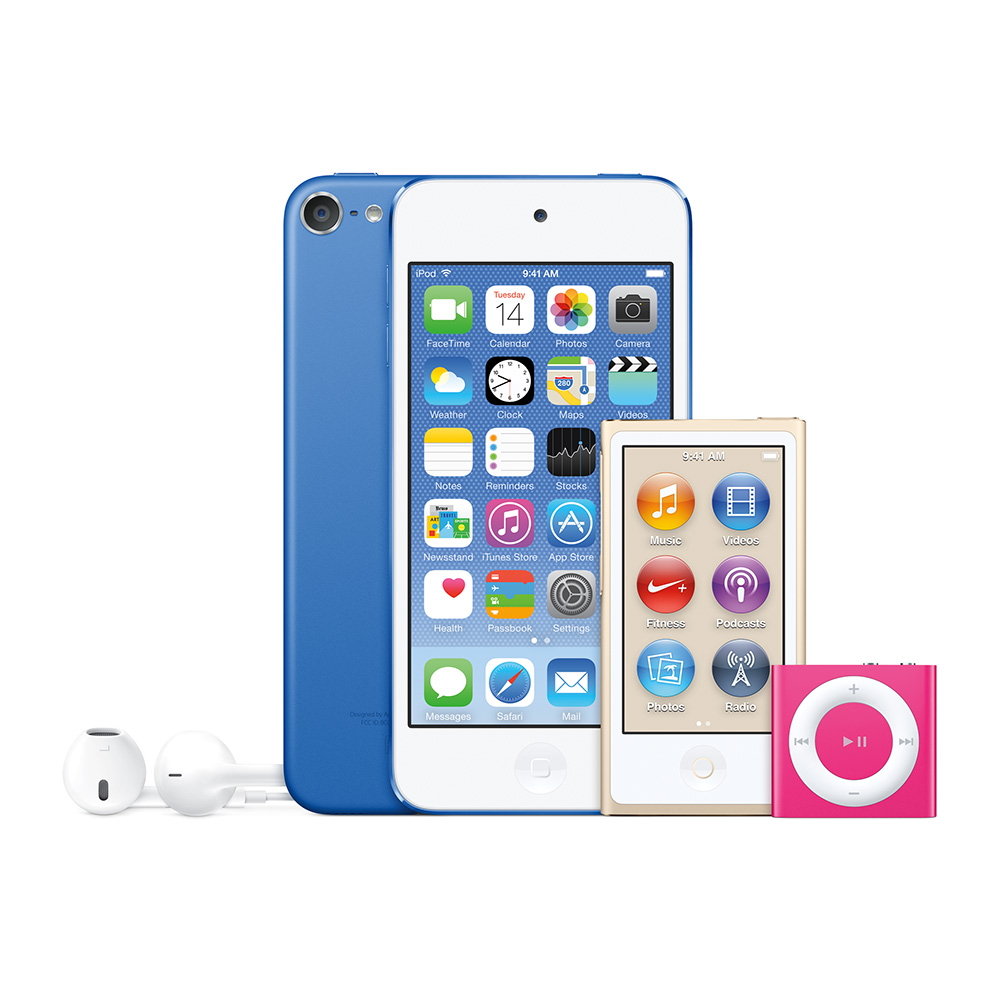 Apple's new iPod touch, iPod nano, and iPod shuffle