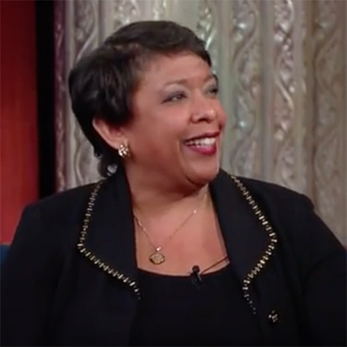Loretta Lynch defends FBI iPhone unlocking order on Colbert's Late Show