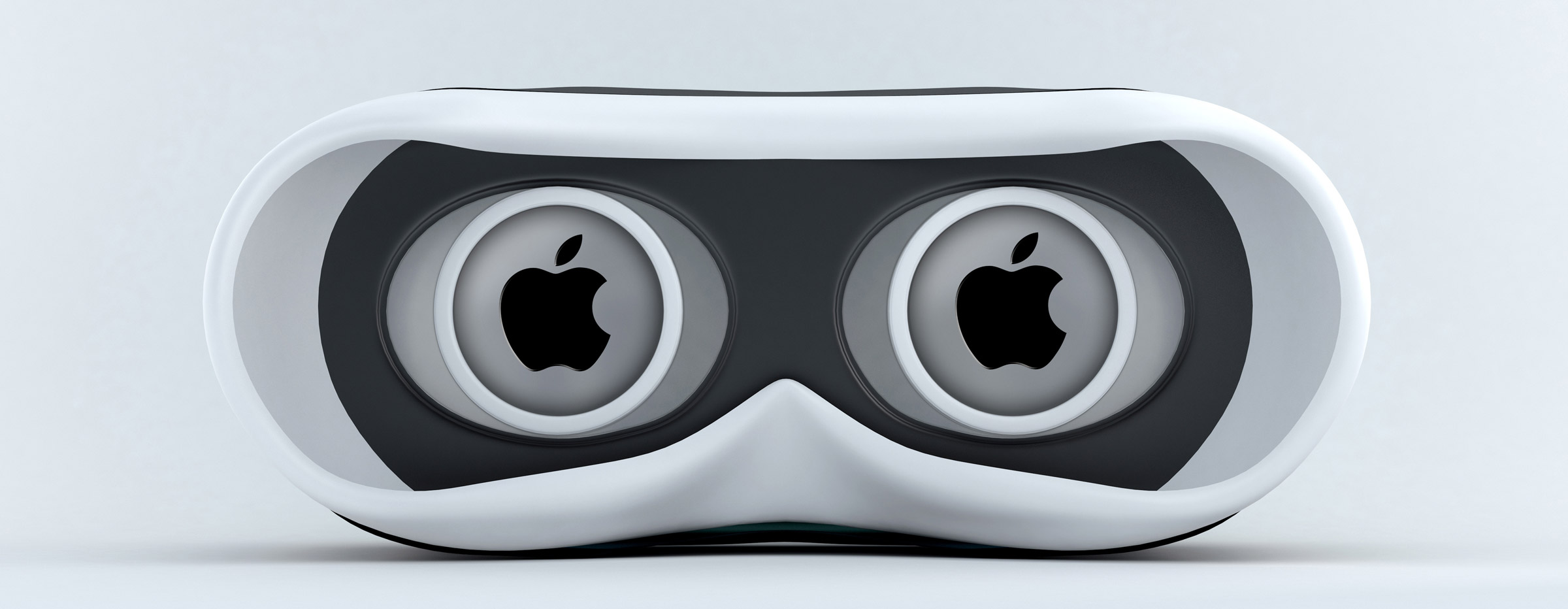 Virtual Reality Googles with an Apple Logo