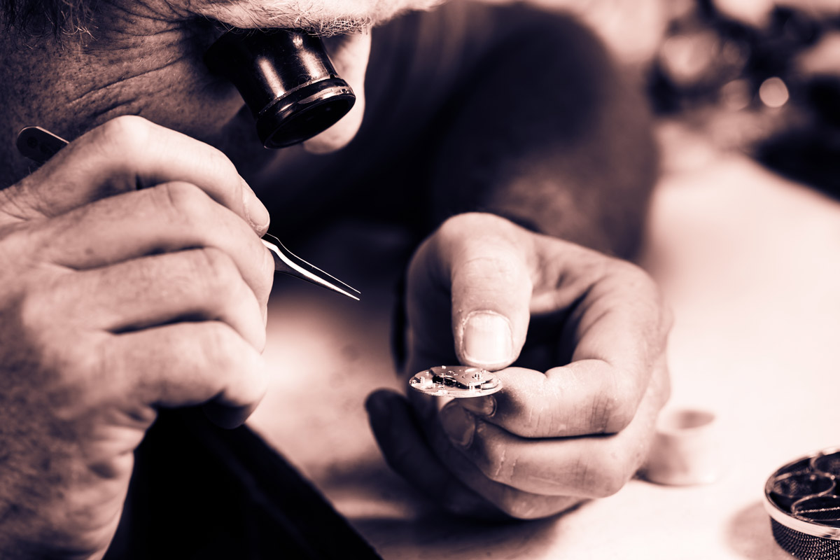 A watchmaker at work