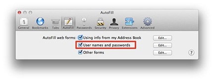 Safari 6 reenables AutoFill settings