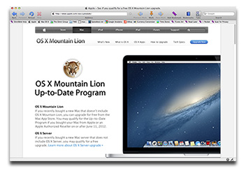 Bought a Mac after July 11? Get Mountain Lion for free