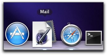 how to add mail icon to mac dock