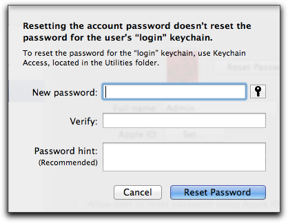 OS X 10 7 & 10 8: Resetting Lost Account Passwords – The Mac
