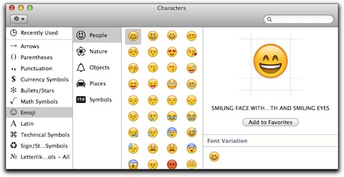 How to use emoji on Mac — the Edit menu