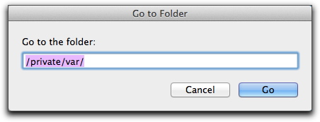 how to open var folder on mac