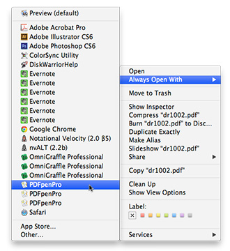 OS X duplicates apps in the Open With list over time