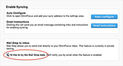 Omni Sync's beta Mail Drop lets us brave little toasters turn Mail.app messages into tasks