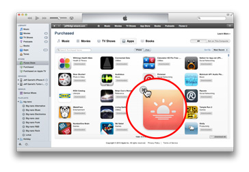 You can hide purchased apps you don't want to see in iTunes