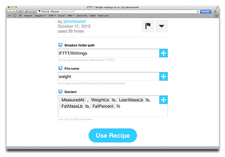 IFTTT can collect data from different sources and write it to a file in Dropbox