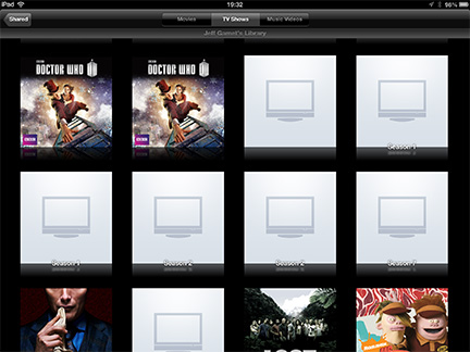 With Home Sharing enabled, you can see your computer's iTunes video library...