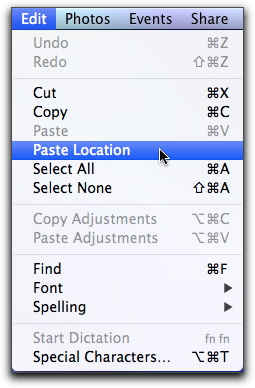assign access to contained self in iphoto