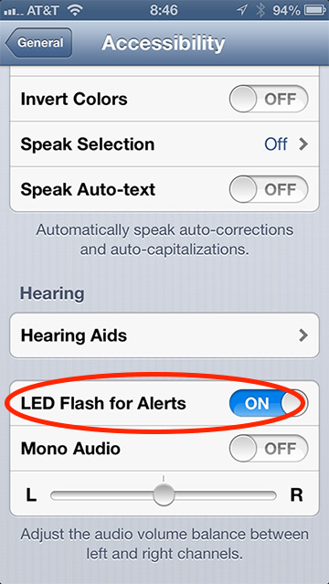 Your iPhone's LED flash can signal alerts as well as brighten photos