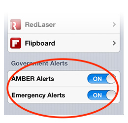 You can control which WEA alerts you get through Notifications settings