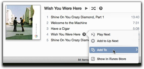how to add to existing playlist on itunes