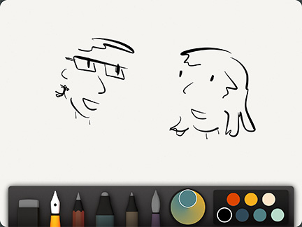 Paper is about as close to drawing on paper as you'll get on the iPad