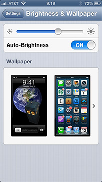 Use the Brightness & Wallpaper settings to change your Home and Lock screen images