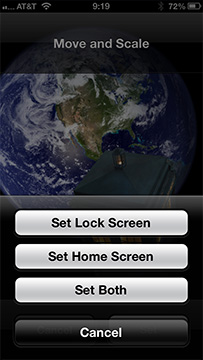 You can set different images for your Home and Lock screens, or use the same for both