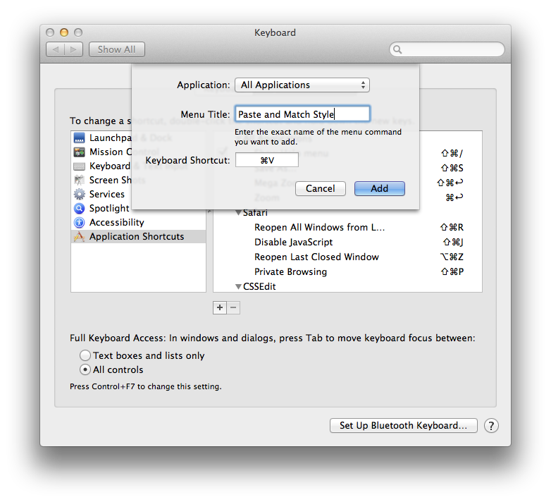 Os X An Easier Keyboard Shortcut For Paste And Match Style The