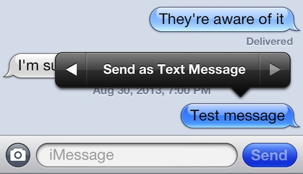IPhone Send A Single IMessage As A Text Message The Mac Observer
