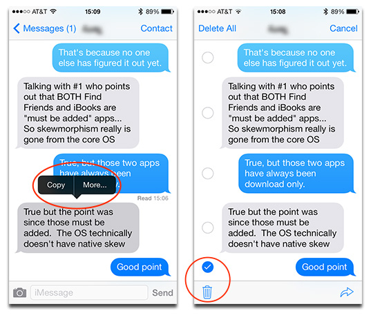 how to delete voice messages on iphone 7