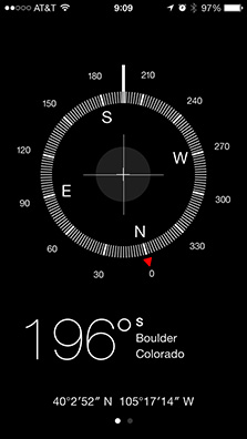 iOS 7's Compass app includes a built-in level for more accurate direction readings