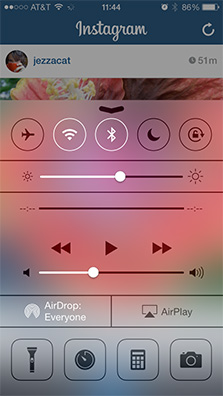 Control Center gives you quick access to commonly used settings in iOS 7