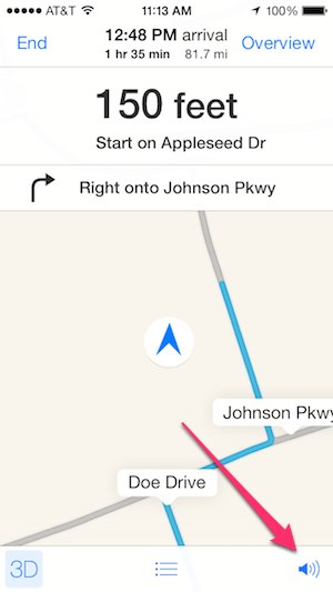 how to turn on mapquest voice