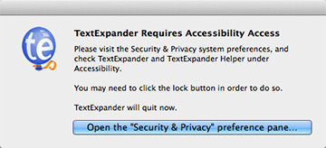 Use TextExpander and installed Mavericks? This probably looks familiar.