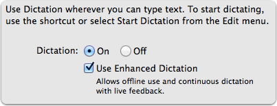 how to get dictation and speech on mac