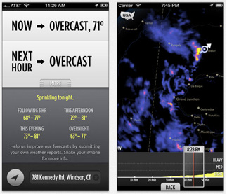 Know when it's going to rain right where you are with Dark Sky