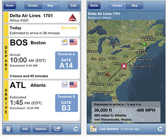 Flight Update Pro tracks your flights and alerts you of changes