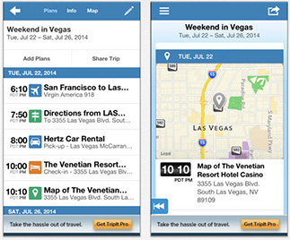 Stay on top of all your travel arrangements with TripIt