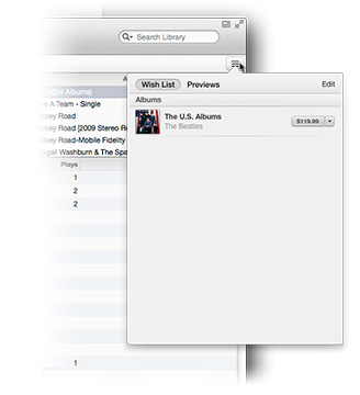 It took a little time, but the promised Wish List is finally appearing in iTunes