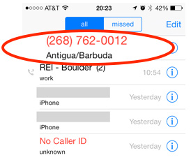 Getting calls you don't recognize from Antigua? It's probably scammers