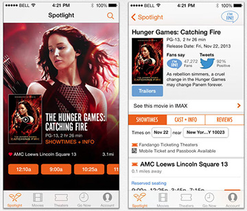 Get your movie tickets with Fandango