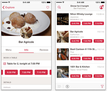 Plan your dinner out with OpenTable