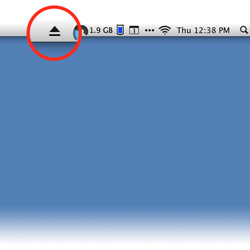 Yes, you can have an disc eject button in your Mac's menu bar